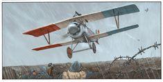 Italian Nieuport 17 Art Romain Hugault