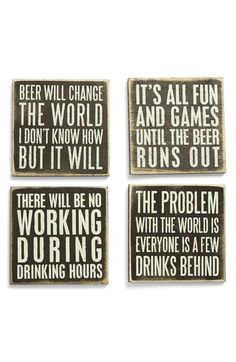 Free shipping and returns on Primitives by Kathy Wood Coasters (Set of 4) at Nordstrom.com. An assortment of bartender-approved quotes style artfully distressed, shabby-chic coasters.