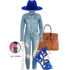 A fashion look from August 2015 featuring Denim & Supply by Ralph Lauren blouses, Frame Denim jeans and Hermès tote bags. Browse and shop related looks.