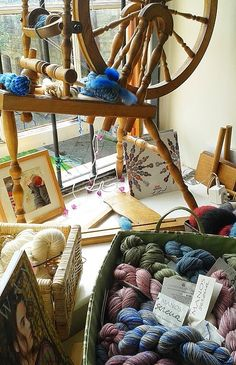 Yarn shop, in the courtyard of Blackfriars in Newcastle, England. Fantastic yarns and very friendly staff | Happy in Red