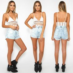Tash Bodysuit and Campfire Shorts from Peppermayo.com