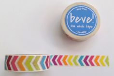 Most popular washi tape of rainbow chevron print.