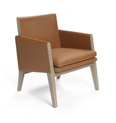 Hermes conversation chair Greyed oak frame and cushioned seat upholstered in taurillon Clemence leather. Patio Chair Cushions, Patio Chairs, Dining Chairs, Leather Furniture, Home Furniture, Small Leather Chairs, Hermes Home, Cheap Chairs, Small Sofa
