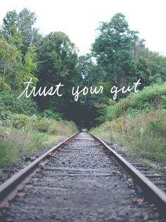 Trust Your Gut.. even if it breaks your heart