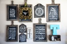 WhipperBerrys Chalkboard Inspiration Wall - how to create chalkboard with vinyl lettering Chalk It Up, Chalk Art, Vinyl Projects, Fun Projects, Web Design, Graphic Design, Shabby Chic, Diy Chalkboard, Chalkboard Walls