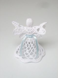 White crochet angel Angel decoration Christmas angel by linzes, $8.00