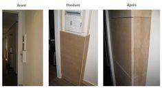 Un coffrage, c'est un assemblage de planches à angle droit qui tiennent au mur grâce à des tasseaux.