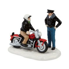 The Original Snow Village from Department 56 A New ?56 Harley-Davidson® KH by Department 56. Save 14 Off!. $30.00. Hand Crafted. Ceramic. Hand Painted. Welcome to The Original Snow Village.  Built with the same traditions and values found in small towns across America. Officially licensed, two riders admire a new bike carefully designed and modeled after an actual Harley offered in 1956.  Hand-crafted and hand-painted ceramic figurine.