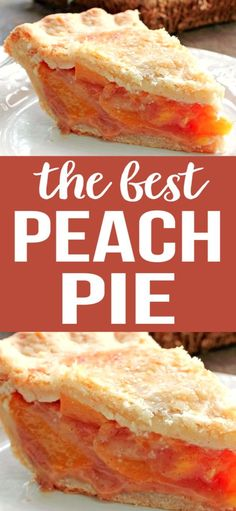 The Perfect Peach Pie is amazing! The fresh peach flavor is up front and delicious, the natural sweetness of the peaches comes shining through to perfection # Desserts fruit THE PERFECT PEACH PIE Peach Pie Recipes, Best Dessert Recipes, Peach Dessert Recipe, Recipes With Peaches, Best Peach Pie Recipe, Pavlova, Köstliche Desserts, Delicious Desserts, Fresh Peach Pie