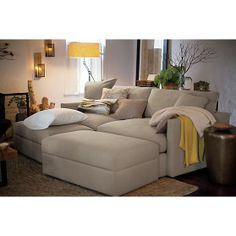 Lounge Sofa and Storage Ottoman | Crate and Barrel