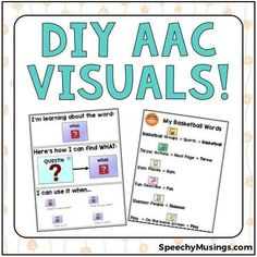 Examples of AAC visuals and a freebie to make your own! Great for core vocabulary instruction and adapting classroom topics! From Speechy Musings.