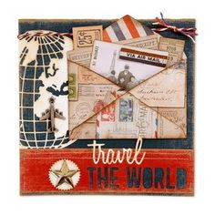 New travel journal title page scrapbook layouts ideas Travel Scrapbook Pages, Vacation Scrapbook, Scrapbook Page Layouts, Scrapbooking Ideas, Scrapbook Cards, Travel Drawing, Paper Crafts, Diy Crafts, Travel Design