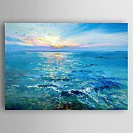 Hand-Painted+Thick+Oil+Boat+Abstract+Landscape+by+Knife++Canvas+Oil+Painting+With+Stretcher+For+Home+Decoration+Ready+to+Hang+–+USD+$+94.65