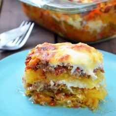 """It looks like lasagna but it is delicious, gluten-free Spaghetti Squash layered as lasagna. My """"fake"""" lasagna is hearty but light!"""