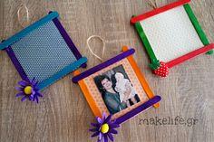κατασκευή για τη γιορτή της μητέρας Craft Stick Crafts, Diy Crafts For Kids, Flower Step By Step, Mother's Day Activities, Mom Day, Mothers Day Crafts, Wooden Crafts, Hobbies And Crafts, Birthday Decorations