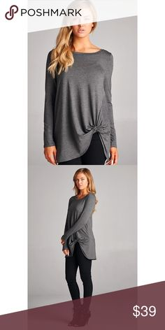 🎉1 HR SALE🎉 Twist Detail Tunic 7/8 length sleeves. Super soft! 95% rayon 5% spandex. No trades. No lowball offers. Tops