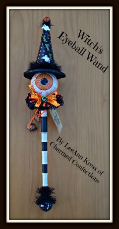 New Charmed Confections Witch's Eyeball Wand by LeeAnn Kress.  For more information check out http://www.etsy.com/shop/CharmedConfections or go to www.charmedconfections.com for more information.