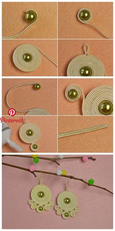 Learn from #Beebeecraft how to make #screwthread earrings. | Jwewlry Making Tutorials & Techniques | Pinterest | Jewelry, DIY Jewelry and Soutache