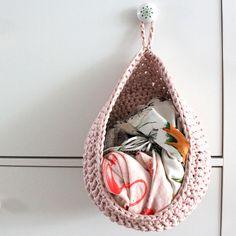 Hæklet hængekurv | Lutter Idyl #crochetinspiration