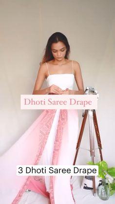 Indian Gowns Dresses, Indian Fashion Dresses, Indian Designer Outfits, Dhoti Saree, Saree Blouse, Lehenga, Saree Wearing Styles, Saree Styles, Stylish Dress Designs