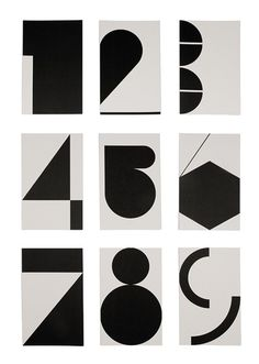 gregmelander NUMBERS Numbers by graphical shapes is a cool way to do it.