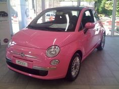 PINK - Fiat 500 - the perfect scoot around car