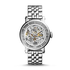 I think I'd just watch the gears all day...Fossil Original Boyfriend Automatic Stainless Steel Watch