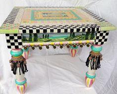 Mackenzie Childs-inspired table