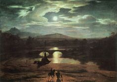 Washington Allston. Moonlit Landscape, Date: 1809, Location: Boston, Museum of Fine Arts. Buy this painting as premium quality canvas art print from Modarty Art Gallery. #art, #canvas, #design, #painting, #print, #poster, #decoration