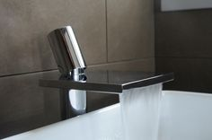 Waterfall faucet chrome stainless.