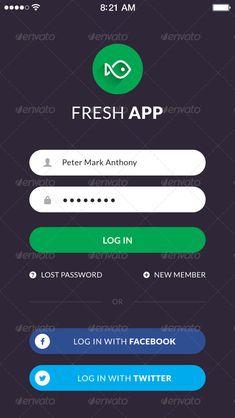 Buy Fresh Flat Mobile UI Kit by vuuuds on GraphicRiver. Point Mobile Phone App UI Kit – Flat mobile app design created using Adobe Photoshop CS. App Login, App Ui, Mobile App Design, Mobile Ui, Screen Design, Ui Kit, Valentines For Kids, Fresh, Internet