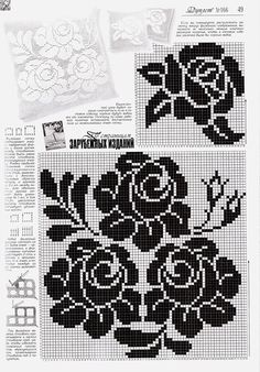 Use imgbox to upload, host and share all your images. Tapestry Crochet, Crochet Motif, Crochet Designs, Crochet Doilies, Crochet Flowers, Filet Crochet Charts, Knitting Charts, Knitting Patterns, Crochet Patterns