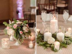 Balmorhea Wedding. Wedding Centerpieces. Wedding Florals. Winter Wedding. Photo by Breanna McKendrick