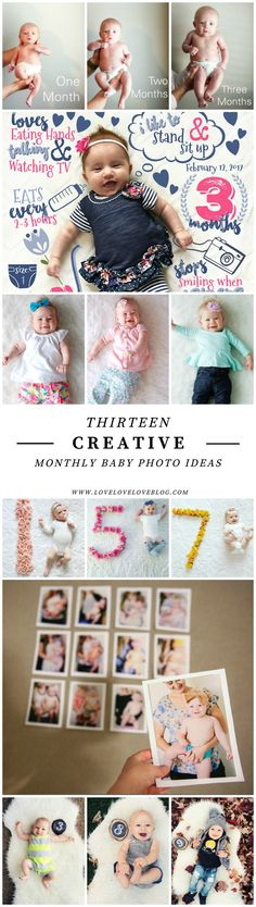 Creative monthly baby photo ideas   DIY Monthly baby photo ideas   Photo ideas for boy   Photo ideas for girl