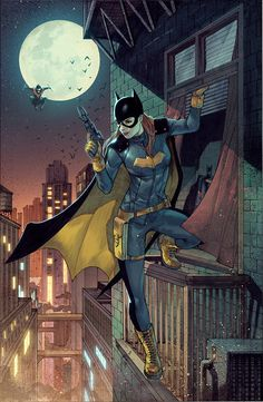 batgirl by by  Garrie M Gastonny, colors by Bryan Valenza