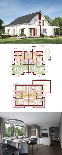 Zweifamilienhaus Mit Satteldach Architektur