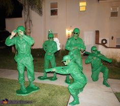 Toy Story Soldiers - Halloween Costume Contest via @costumeworks