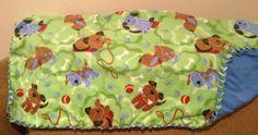#Green #Blue #puppies #baby #fleece #blanket August2014