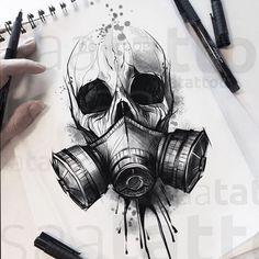 NO COPIE Chernobyl chernobyl tattoodrawing tattoosketch che NO COPIE Chernobyl chernobyl tattoodrawing tattoosketch che chernobyl copy not tattoodrawing tattoosketch tschernobyl Creepy Drawings, Dark Art Drawings, Pencil Art Drawings, Art Drawings Sketches, Tattoo Sketches, Drawings Of Skulls, Tatto Skull, Mask Tattoo, Skull Tattoo Design