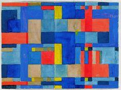 Design for a wall hanging  Bauhaus Dessau, 1927/28  23x31 cm  Victoria & Albert Museum, London