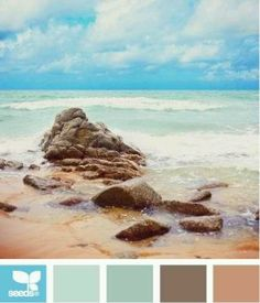 These sand and sea colors are so relaxing.... and the colors of living room - dining is just blue