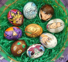 So creative Yu-Gi-Oh eggs! Yu Gi Oh, Easter Art, Easter Eggs, Easter Crafts, Angry Birds, Huevo Cartoon, Easter Cartoons, Easter Egg Designs, Easter Holidays