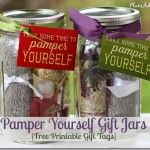 pamper yourself gift jars {free printable tags}