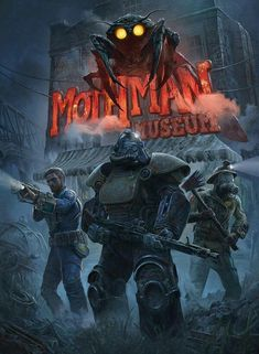 'Mothman Museum ( Fallout Poster by Spencer Siefke Fallout Funny, Fallout Rpg, Fallout Fan Art, Fallout Concept Art, Fallout Game, Fallout New Vegas, Play Fallout, Fallout Vault, Fallout Cosplay