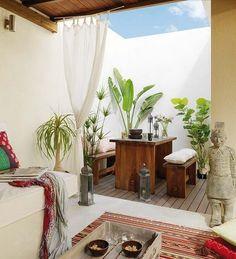 indoor, outdoor massage space, yes please