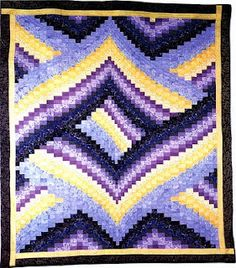 Purple bargello, what could be better!