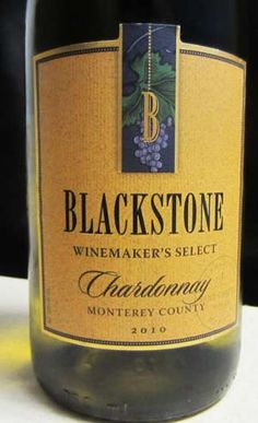 2010 Blackstone Chardonnay - a well balanced white wine with flavors of citrus, green apple and lemon zest. Great wine for the price - $8.99 Rating: 3.5/5 corks.