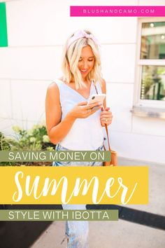 Today I'm sharing all the details of how I shop for my summer outfits using Ibotta! I'm breaking down what Ibotta is, how to use Ibotta and save money, and why I love this app so much! #savingmoney #budgetfashion #fashiontips #styleblogger #fashiononabudget