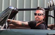 Richard Rawlings= silver fox. love this man!!! tatted, gray hair, gear head.. what's not to love!