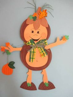 Ou Hand Crafts For Kids, Diy For Kids, Diy And Crafts, Paper Crafts, Autumn Crafts, Autumn Art, Autumn Theme, Autumn Decorating, Fall Decor